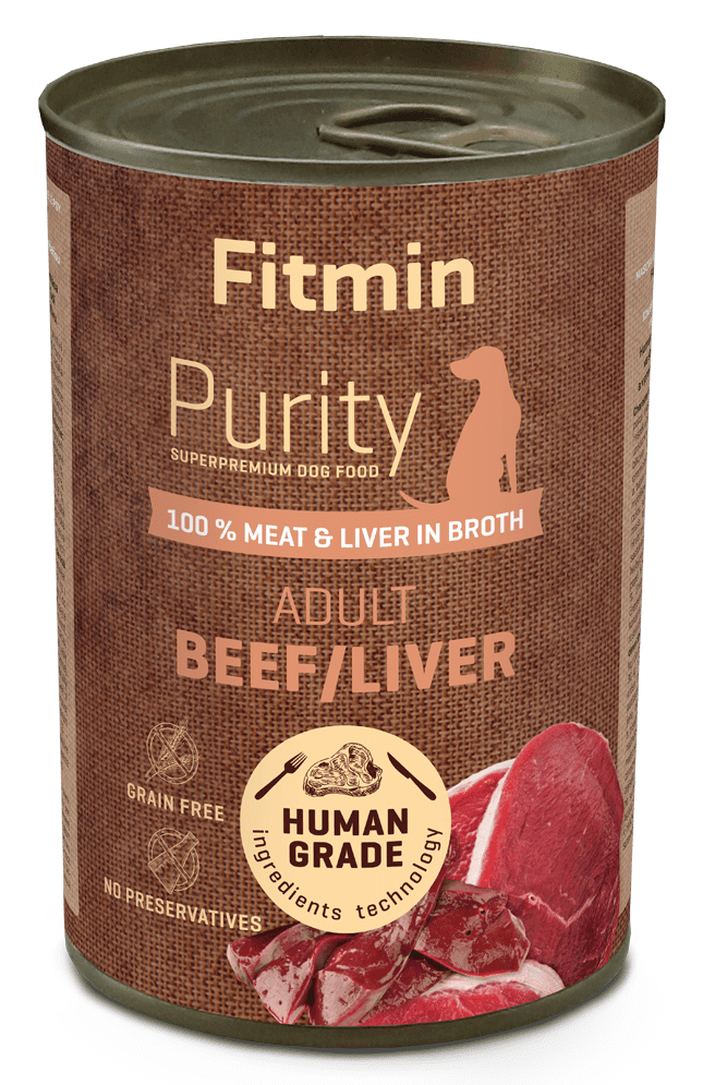 Fitmin Dog Purity tin beef with liver 6x400 g