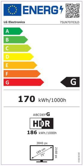LG 75UN7073 4K UHD LED televizor, Miracast, Timeshift