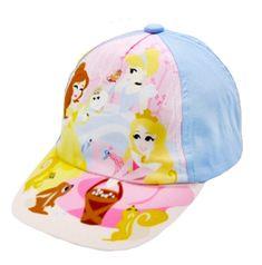 """SETINO Dziewczęca czapka z daszkiem """"Disney Księżniczki"""" - niebieski - 50 cm"""