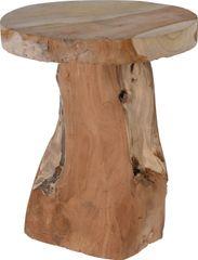 Koopman Taburet masívny teak Ø 25 cm x 30 cm