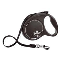 Flexi Black Design L popruh 5m černá do 50kg
