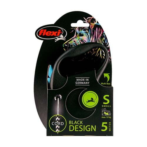 Flexi Black Design S zsinór 5m kék 12 kg-ig