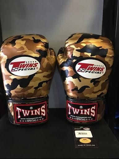 Twins Boxerské rukavice TWINS SPECIAL FBGVS3 Camo - black/gold