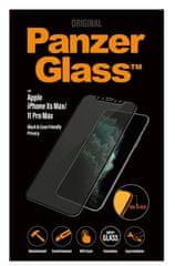 PanzerGlass Privacy zaščitno steklo za iPhone Xs Max/11 Pro Max, Edge-to-Edge