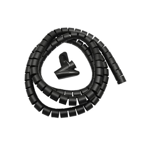 Maclean Špirala za vezanje kablov MCTV-676B črna