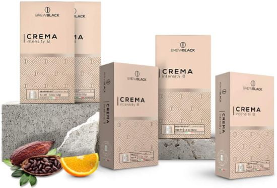 BrewBlack Coffee CREMA (10 kávékapszula)