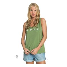 Roxy Ženska majica brez rokavov Closing Party Word (Velikost XS)
