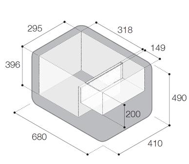 Vitrifrigo VF45P kompresorska prenosna hladilna in zamrzovalna skrinja