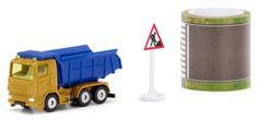 SIKU Blister 1600 teherautó utat ábrázoló szalaggal és táblával