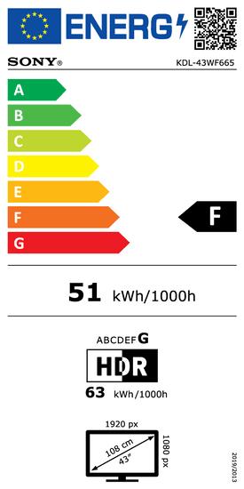 Sony FHD KDL43WF665B LCD televizor