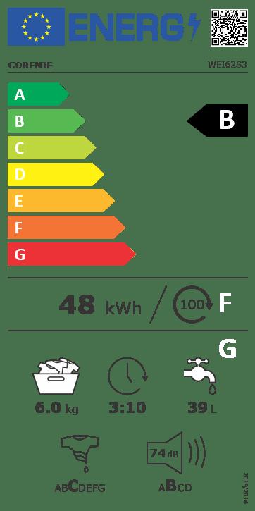 Gorenje pračka WEI62S3 + 15 let záruka na invertorový motor PowerDrive