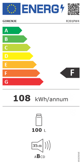 Gorenje R391PW4 prostostoječi hladilnik