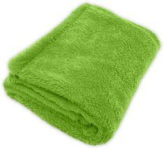 GObaby Dětská deka s jemným chlupem ROCCO 100x70cm Vzorník CORAL: zelená