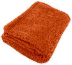 GObaby Dětská deka s jemným chlupem ROCCO 100x70cm Vzorník CORAL: oranžová