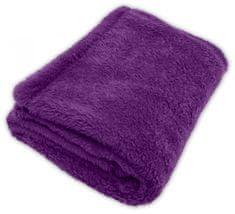 GObaby Dětská deka s jemným chlupem ROCCO 100x70cm Vzorník CORAL: fialová