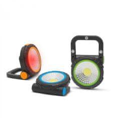 PHENOM Magnetna baterijska COB LED delovna svetilka 3W + rdeča signalna lučka