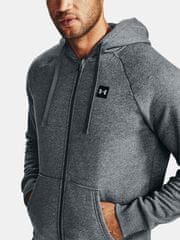 Under Armour Pulover UA Rival Fleece FZ Hoodie-GRY XL