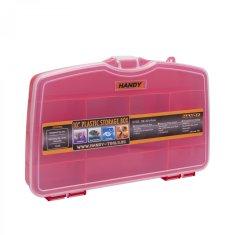 Handy Plastični kovček s predalčki rdeč velik