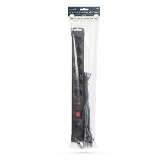 Delight Podaljšek 3x1mm z razdelilcem in 6 vtičnicami in prenapetostno zaščito 3m