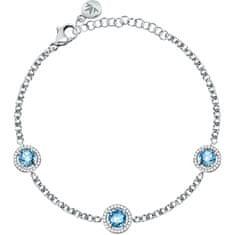 Morellato Bleščeča srebrna zapestnica s kristali Tesori SAIW96