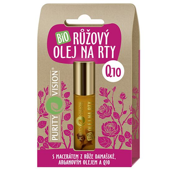 Purity Vision Organsko olje vrtnic za ustnice Q10 10 ml