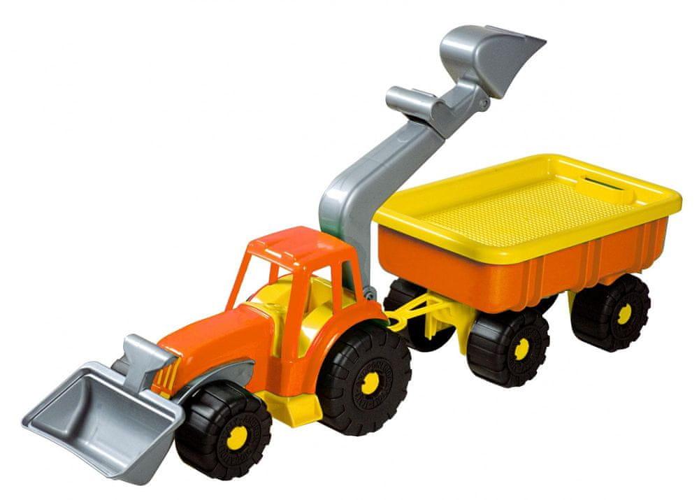 Androni Traktorový nakladač s vlekem Power Worker, oranžový