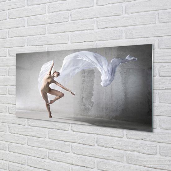 tulup.cz Nástenný panel Žena tancuje biely materiál 100x50cm