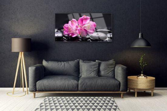 tulup.hu Üvegkép Virágok kövek Zen Spa