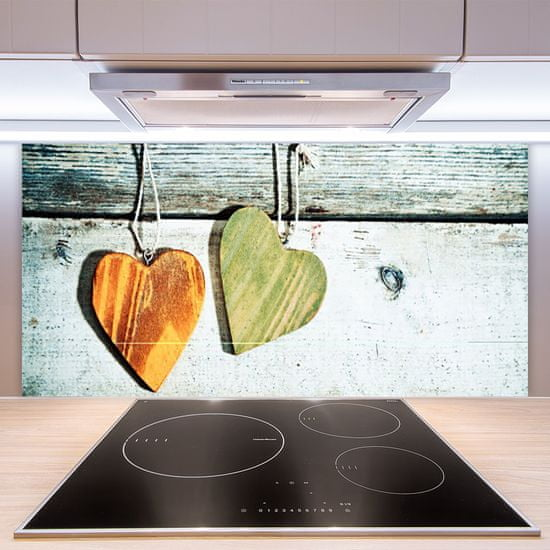 tulup.cz Nástenný panel Srdce drevo umenie 120x60cm