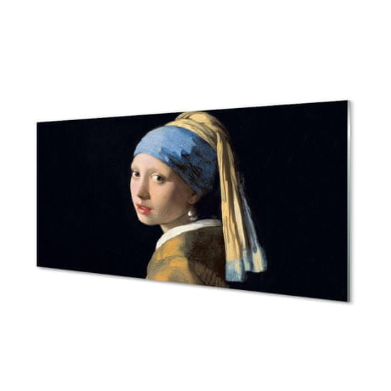 tulup.cz Obraz na skle Art Dievča s perlou 120x60cm