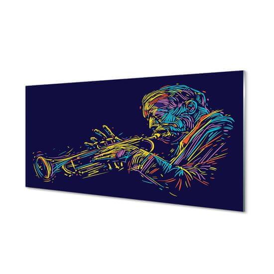 tulup.cz Obraz plexi Trumpet muž 140x70cm