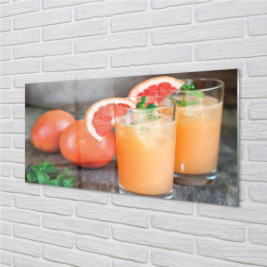 tulup.cz Obraz na skle grapefruit koktail 125x50cm