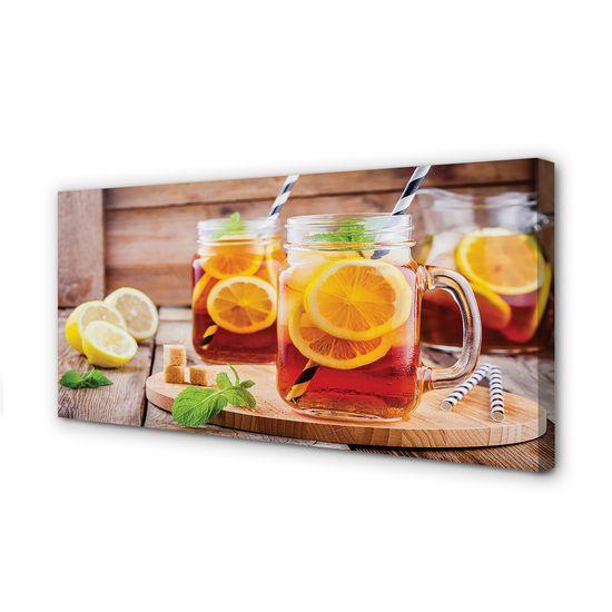 tulup.sk Obraz canvas Ice Tea citrusové slamky