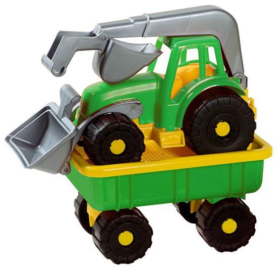 Androni Traktorový nakladač s vlekom Power Worker, zelený