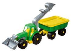 Androni traktorski nakladalnik z dvigalom Power Worker, zelen
