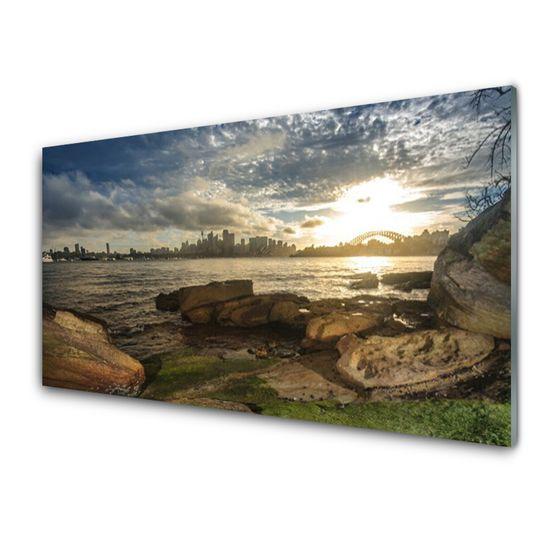 tulup.hu Fali üvegkép Sea város táj