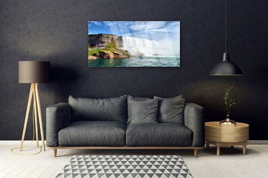 tulup.cz Skleneny obraz Vodopád more príroda 120x60cm