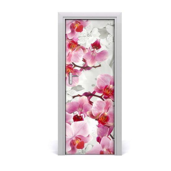 tulup.hu Ajtóposzter öntapadós rózsaszín orchidea