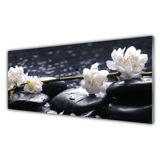 tulup.hu Modern üvegkép virág Stones