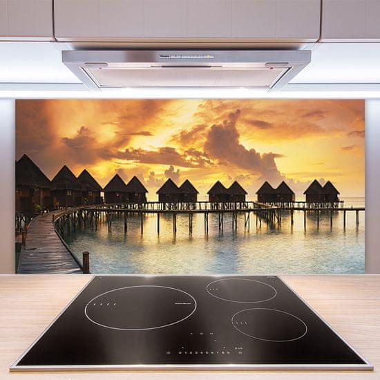 tulup.si Stenska plošča za kuhinjo Sea sky počitniške hiše