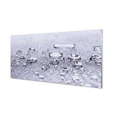 tulup.hu Konyhai üveg panel Vízcseppek makró 125x50cm