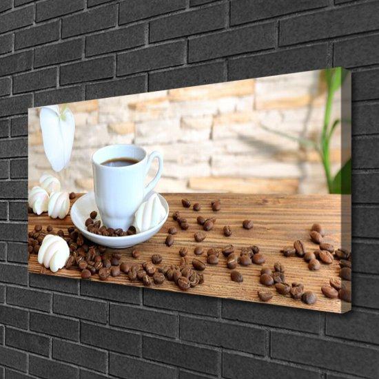 tulup.cz Obraz Canvas Hrnček káva zrnká kuchyňa 120x60cm