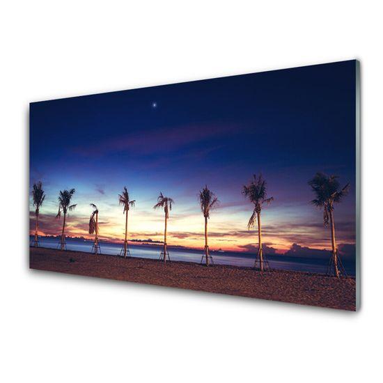 tulup.si Stenska plošča za kuhinjo Palm tree morje landscape