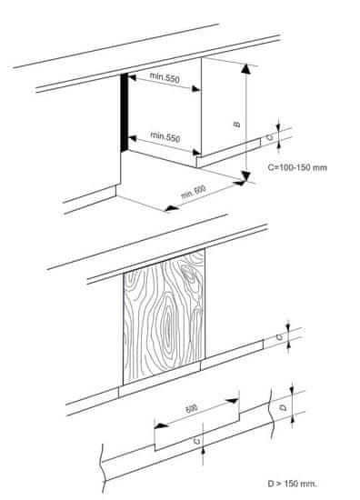 Beko vestavná lednička BU1153HCN