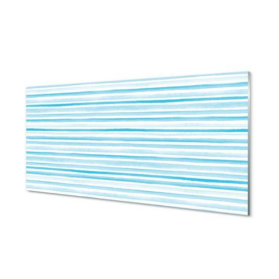 tulup.cz Obraz na akrylátovom skle Modré pruhy 125x50cm