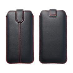 FORCELL Univerzalni ovitek za mobilni telefon črno rdeč - žepek