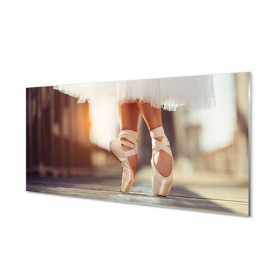 tulup.cz Nástenný panel Biele baletné topánky ženské nohy 120x60cm