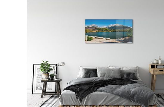 tulup.si Steklena slika Gorsko jezero