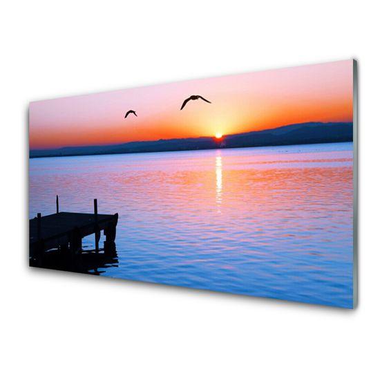 tulup.si Zidna obloga za kuhinju Morje pier sun landscape