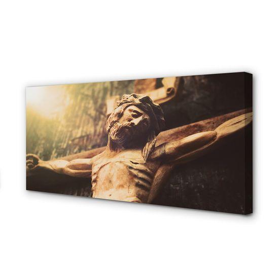 tulup.hu Canvas képek Jézus fából